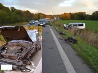 Dramatická nehoda v Meziříčí – Mikrospánek, alkohol a 3 zranění