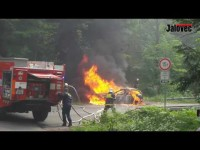 Na Rožnovsku shořela 2 auta