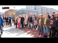 Studenti Masarykova gymnázia Vsetín stávkovali proti současnému stavu české politiky
