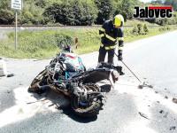 Zašová. Motorkář (57) zemřel. Spolujezdkyně (52) ve vážném stavu