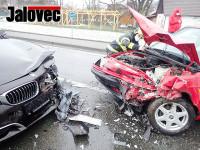 U Janové se střetlo BMW s Felicií. Policie hledá svědky